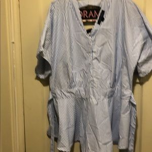 Pun stripe blouse